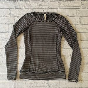 Lululemon Race Your Pace Striped Long Sleeve Sz 4
